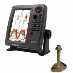 SI-TEX SVS-760 Dual Frequency Sounder 600W Kit w-Bronze Thru-Hull Temp Transducer - 1700-50-200T-CX