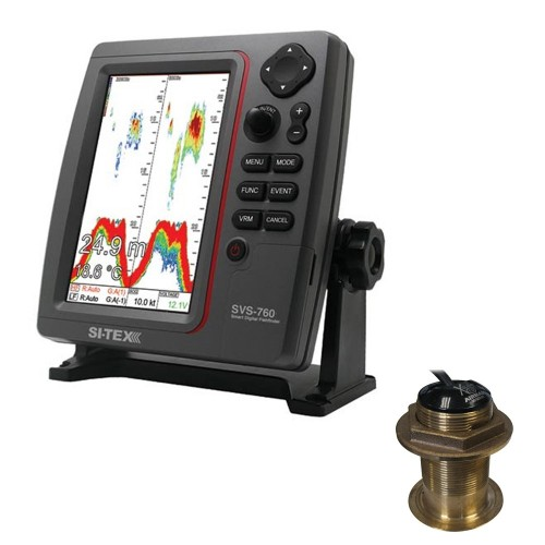 SI-TEX SVS-760 Dual Frequency Sounder 600W Kit w-Bronze 20 Degree Transducer