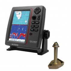 SI-TEX SVS-760CF Dual Frequency Chartplotter-Sounder w-Navionics- Flexible Coverage - 1700-50-200T-CX Transducer