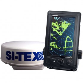 SI-TEX T-760 Compact Color Radar w-4kW 18- Dome - 7- Touchscreen