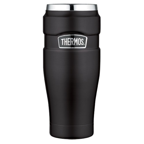 Thermos Stainless King Vacuum Insulated Travel Tumbler - 16 oz- - Stainless Steel-Matte Black