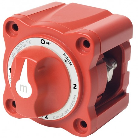 Blue Sea 6007 m-Series -Mini- Battery Switch Selector Four Position Red