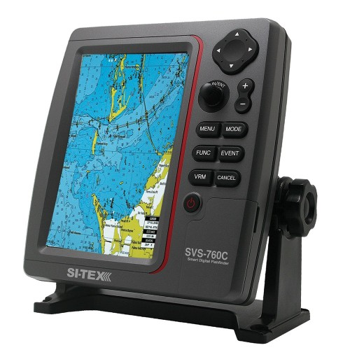 SI-TEX SVS-760C Digital Chartplotter w-Navionics- Flexible Coverage