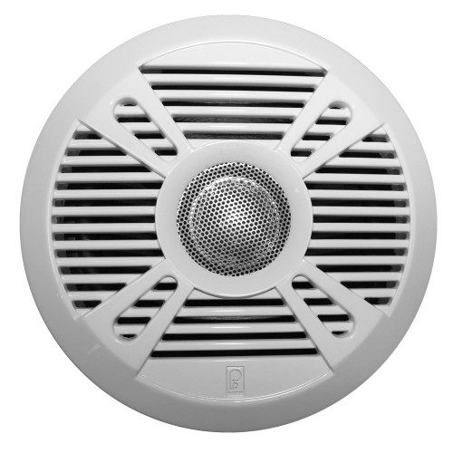 Poly-Planar MA7050 5- 2-Way Marine Speaker w-2 Grills - White - Graphite