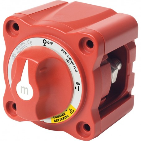 Blue Sea 6011 m-Series -Mini- Battery Switch Dual Circuit Plus