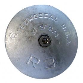 Tecnoseal R3AL Rudder Anode - Aluminum - 3-3-4- Diameter
