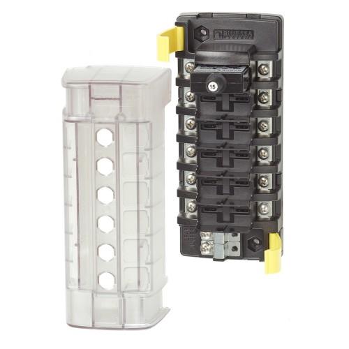 Blue Sea 5050 ST CLB Circuit Breaker Block - 6 Position