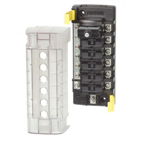 Blue Sea 5052 ST CLB Circuit Breaker Block - 6 Position w-Negative Bus