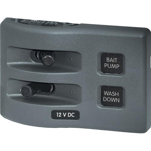 Blue Sea 4303 WeatherDeck 12V DC Waterproof Switch Panel - 2 Position