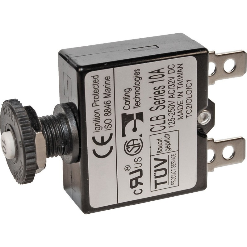 Blue Sea 7052 5A Push Button Thermal with Quick Connect Terminals