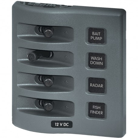 Blue Sea 4305 WeatherDeck 12V DC Waterproof Switch Panel - 4 Posistion