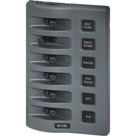 Blue Sea 4307 WeatherDeck 12V DC Waterproof Switch Panel - 6 Position