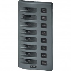Blue Sea 4309 WeatherDeck 12V DC Waterproof Switch Panel - 8 Position