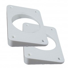TACO Wedge Plates f-Grand Slam Outriggers - White