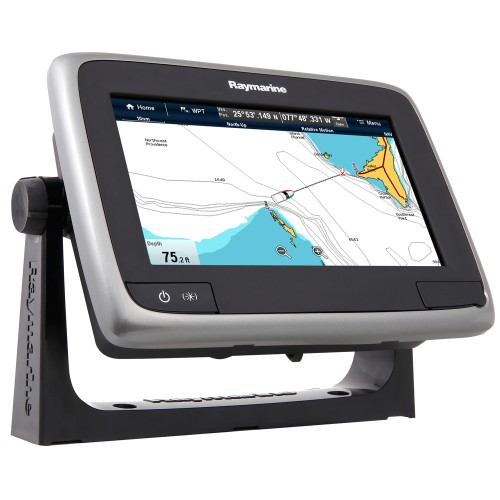 Raymarine a75 Wi-Fi 7- MFD Touchscreen - Lighthouse Navigation Charts - NOAA Vector