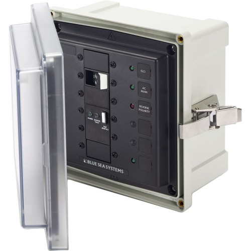Blue Sea SMS Surface Mount System Panel Enclosure - 120-240V AC-50A ELCI Main - 1 Blank Circuit Position