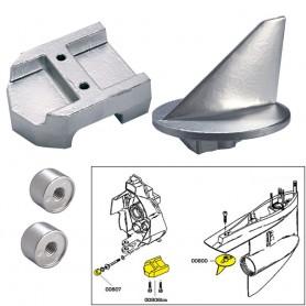 Tecnoseal Anode Kit w-Hardware - Mercury Alpha 1 Gen 1 - Zinc