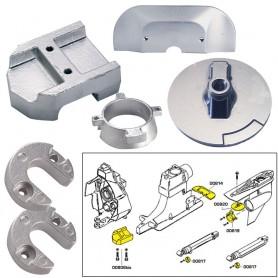 Tecnoseal Anode Kit w-Hardware - Mercury Alpha 1 Gen 2 - Aluminum