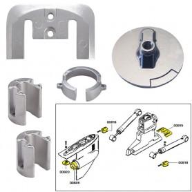 Tecnoseal Anode Kit w-Hardware - Mercury Bravo 1 - Aluminum