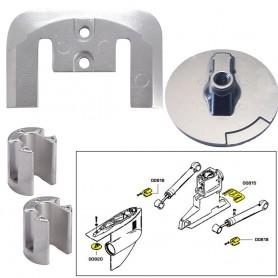 Tecnoseal Anode Kit w-Hardware - Mercury Bravo 2-3 - Aluminum