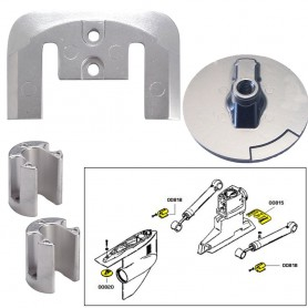 Tecnoseal Anode Kit w-Hardware - Mercury Bravo 2-3 up to 2003 - Magnesium