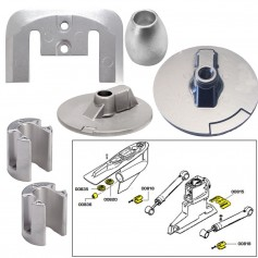 Tecnoseal Anode Kit w-Hardware - Mercury Bravo 3 2004-Present - Magnesium