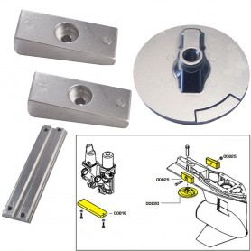 Tecnoseal Anode Kit w-Hardware - Mercury Verado 4 - Zinc