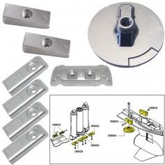 Tecnoseal Anode Kit w-Hardware - Mercury Verado 6 - Aluminum