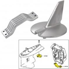 Tecnoseal Anode Kit w-Hardware - Yamaha 200-250HP - Aluminum