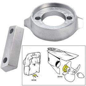 Tecnoseal Anode Kit w-Hardware - Volvo 290 - Magnesium