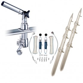 Rupp Z-30 Top Gun Outrigger Kit w-18- Poles - Complete Single Line Rigging Kit w-Klickers Release Clips