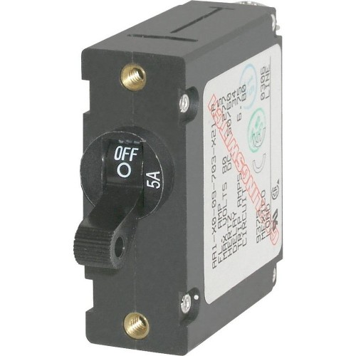 Blue Sea 7200 AC - DC Single Pole Magnetic World Circuit Breaker - 5 Amp
