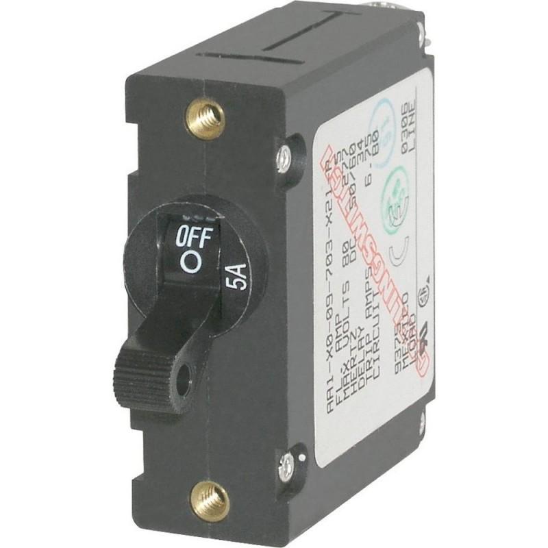 Blue Sea 7200 AC - DC Single Pole Magnetic World Circuit Breaker - 5 Amp