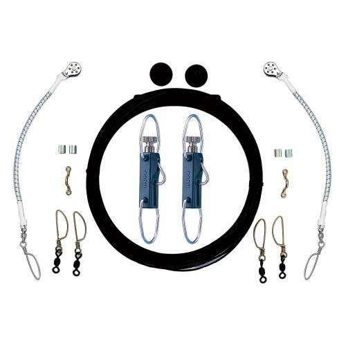 Rupp Single Rigging Kit w-Klickers - Black Mono 160- Lines
