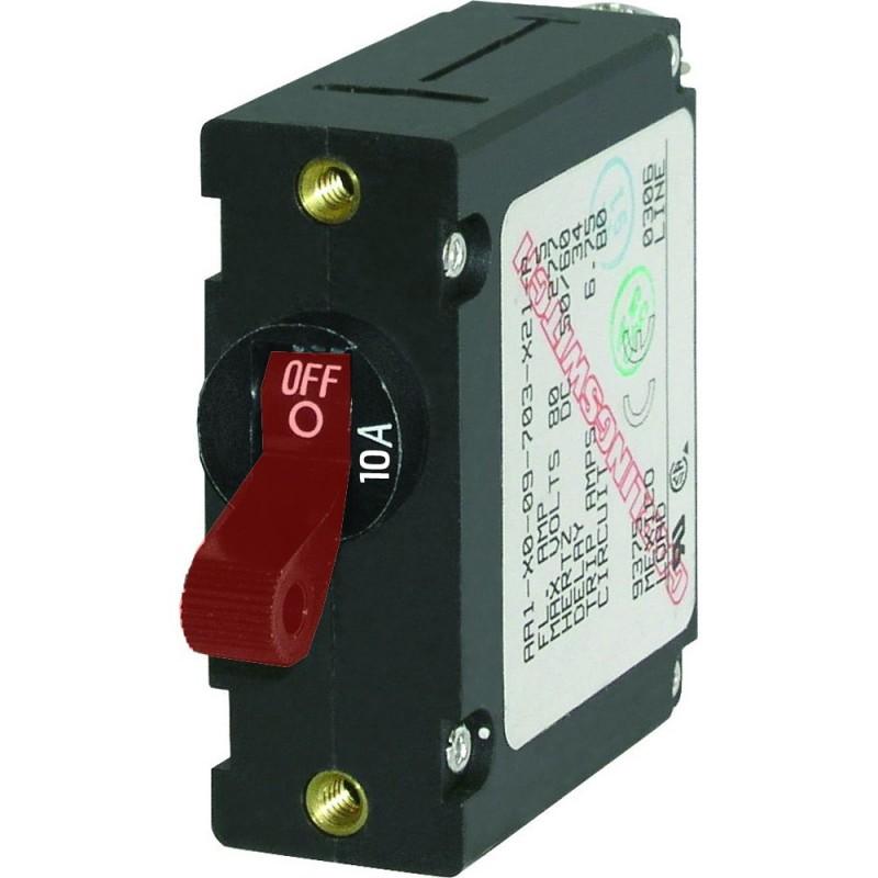 Blue Sea 7205 AC - DC Single Pole Magnetic World Circuit Breaker - 10 Amp