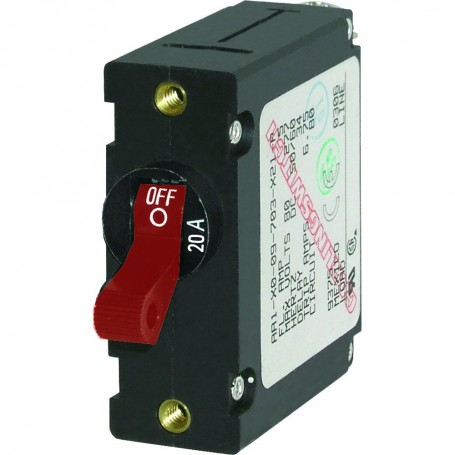 Blue Sea 7213 AC - DC Single Pole Magnetic World Circuit Breaker - 20 Amp