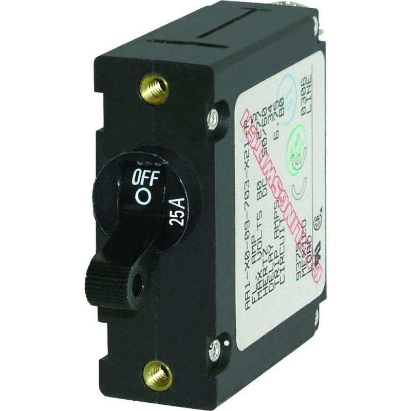 Blue Sea 7216 AC - DC Single Pole Magnetic World Circuit Breaker - 25 Amp