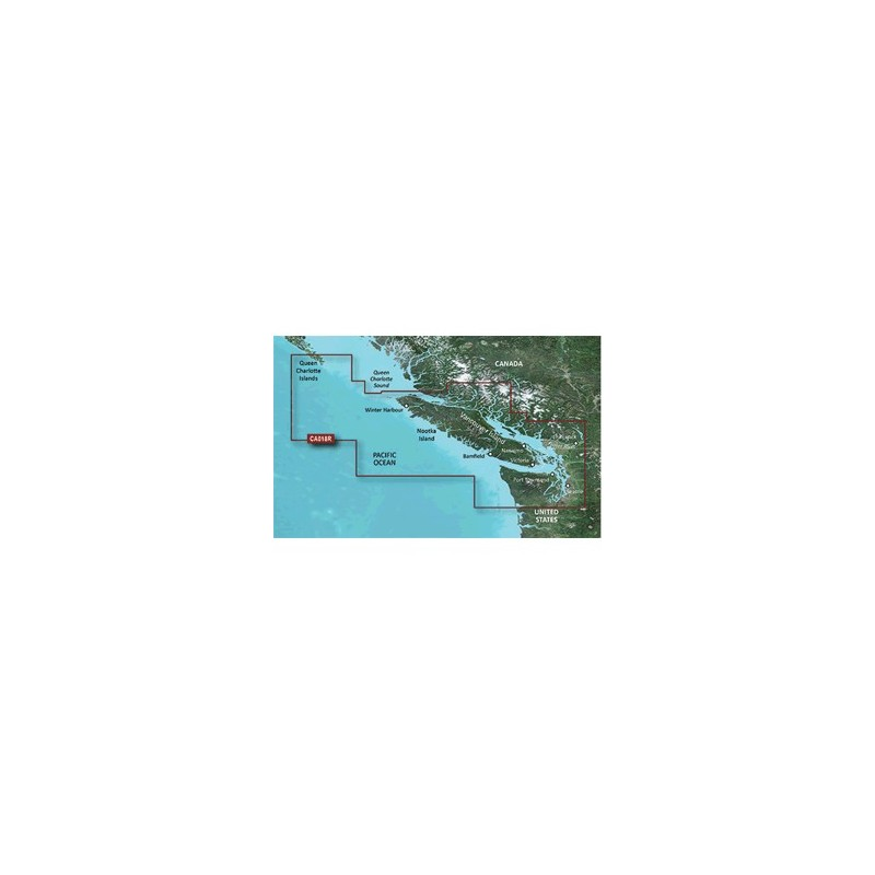 Garmin BlueChart g3 Vision HD - VCA018R - Inside - Outside Passage - microSD-SD
