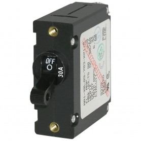Blue Sea 7220 AC - DC Single Pole Magnetic World Circuit Breaker - 30 Amp