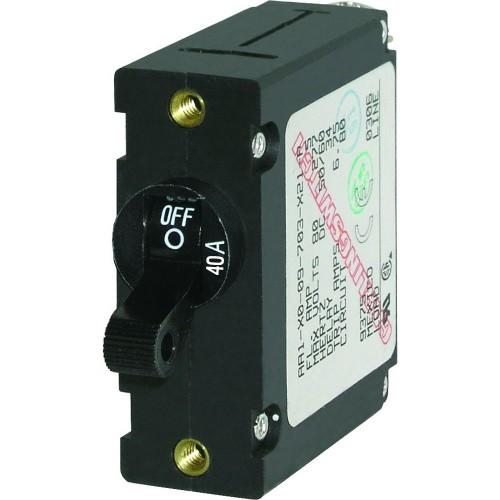 Blue Sea 7224 AC - DC Single Pole Magnetic World Circuit Breaker - 40 Amp