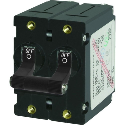 Blue Sea 7236 A-Series Double Pole Toggle - 20A - Black