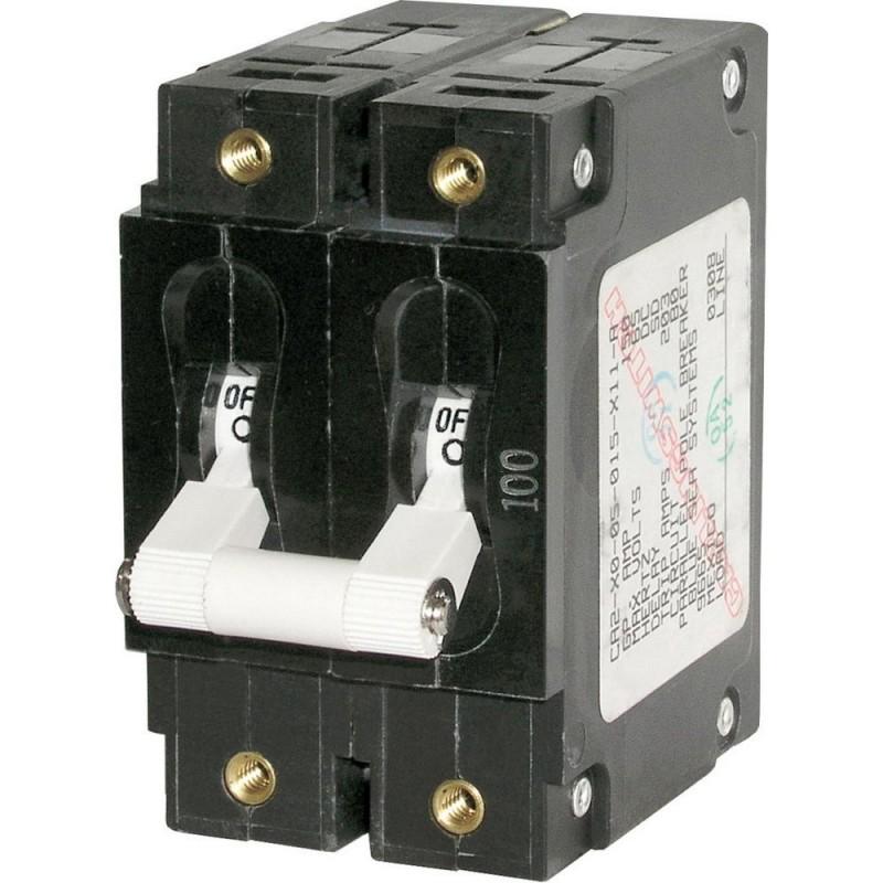 Blue Sea 7256 C-Series Double Pole Circuit Breaker - 80A