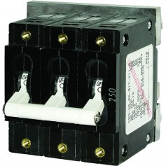 Blue Sea 7270 250A C-Series Triple Pole Toggle DC Circuit Breaker