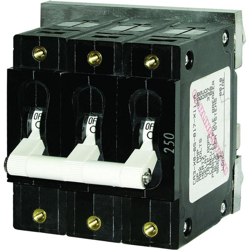 Blue Sea 7289 C-Series Triple Pole Circuit Breaker - 80A