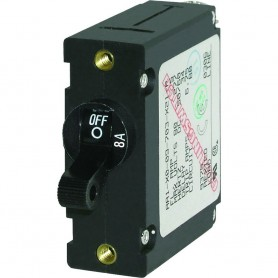 Blue Sea 7347 AC-DC Single Pole Magnetic World Circuit Breaker - 8 AMP
