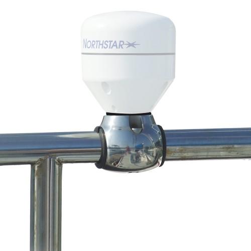 Edson GPS Antenna Rail Mount - Stainless Steel f-1--1-25- Rails - 1--14 Threads