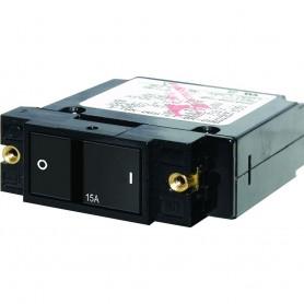 Blue Sea 7407 Single Pole Small Case 2- Flat Rocker Circuit Breaker - 40 Amp
