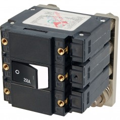 Blue Sea 7477 C - Series Flat Circuit Breaker- Single and Double Pole - 250 Amp