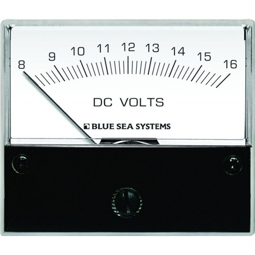 Blue Sea 8003 DC Analog Voltmeter - 2-3-4- Face- 8-16 Volts DC