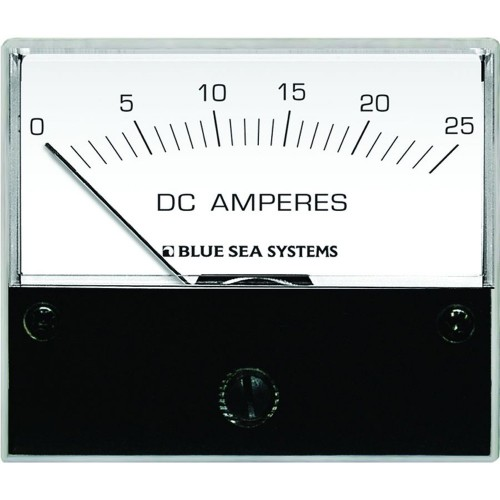 Blue Sea 8005 DC Analog Ammeter - 2-3-4- Face- 0-25 Amperes DC